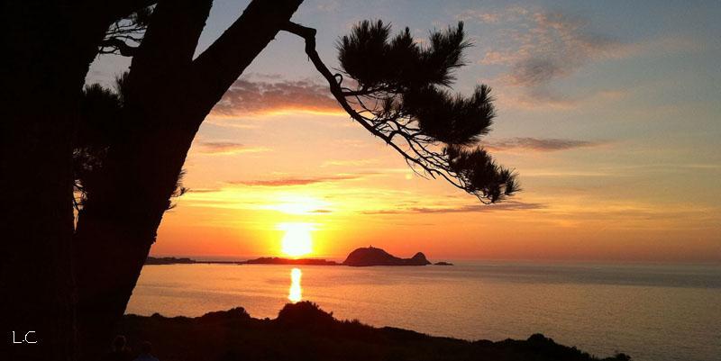 ile rousse coucher de soleil