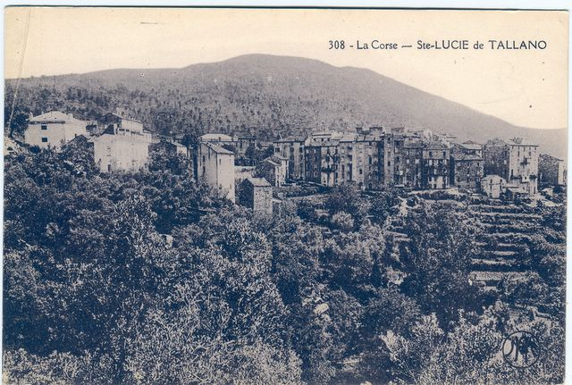 carte postale ancienne de sainte lucie de Tallano