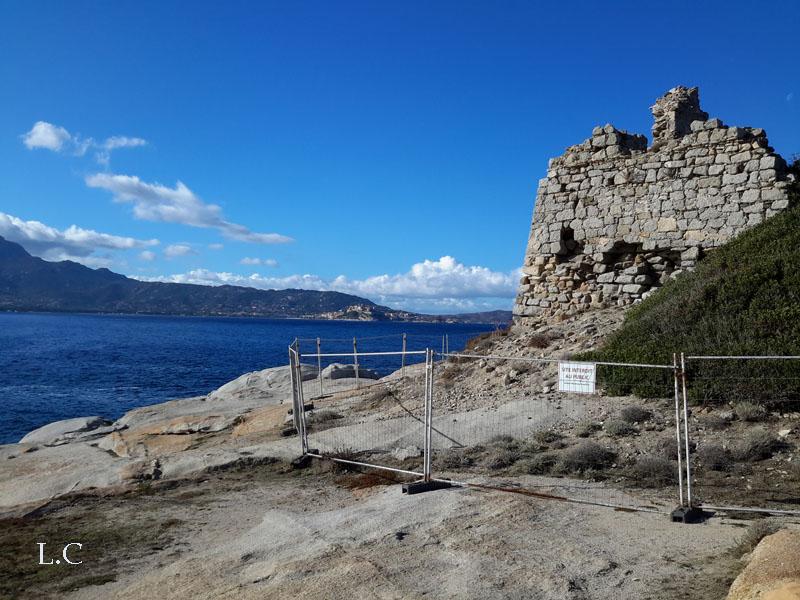 La tour Caldanu avec vue sur Calvi