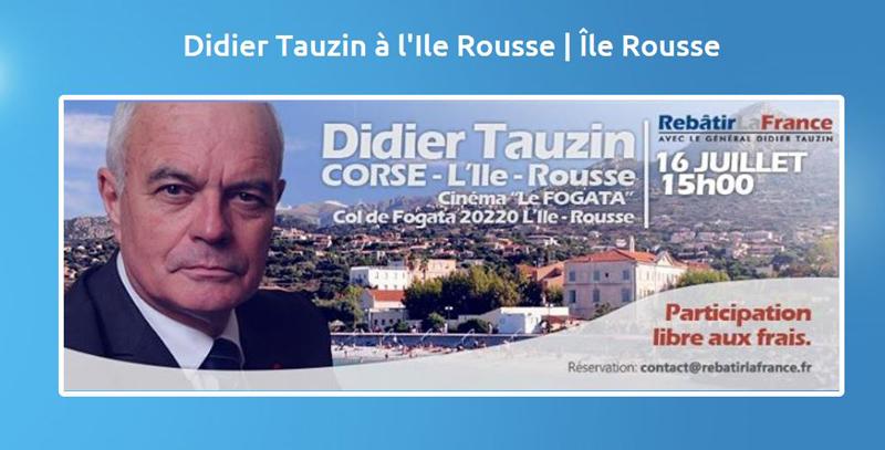 Didier Tauzin à île Rouuse