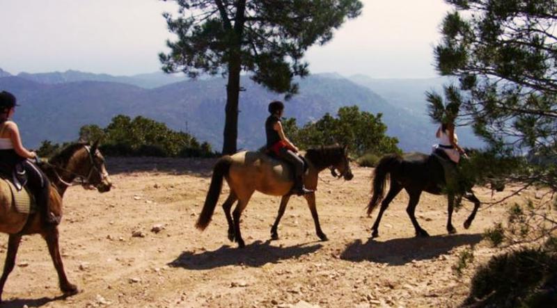 Promenade à cheval en corse